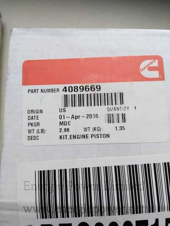 Engine Piston Kit-4089669