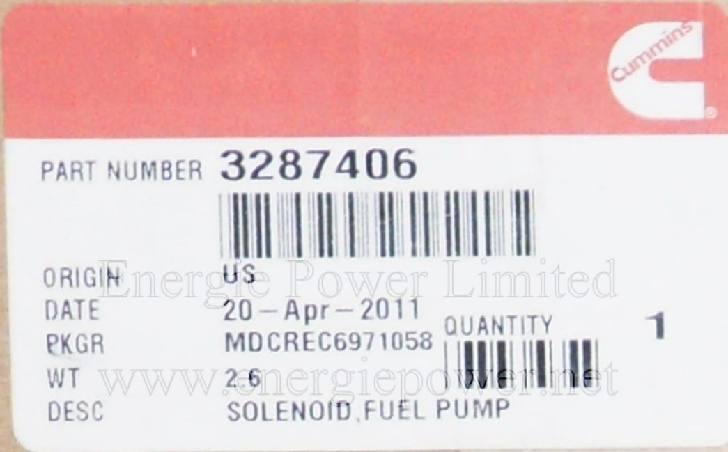 Fuel Pump Solenoid-3287406