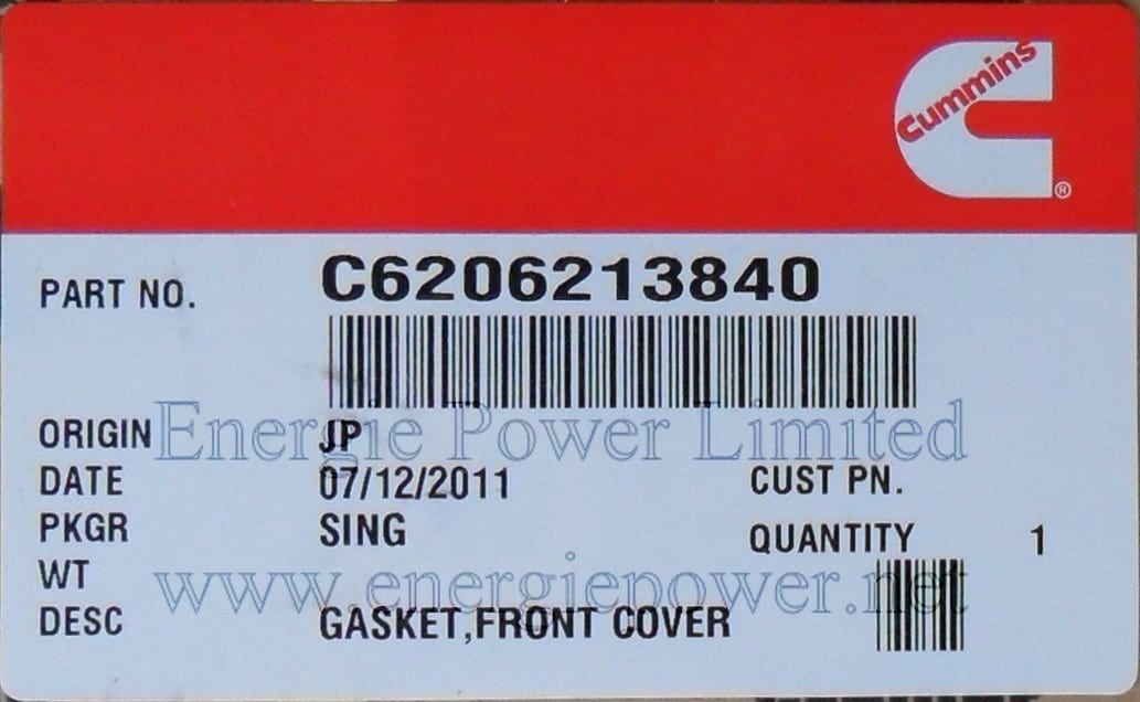 Gear Cover Gasket-C6206213840