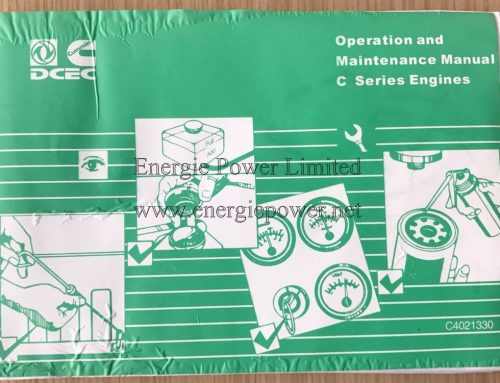 DCEC Cummins Engine C serial engine operation and maintenance manual
